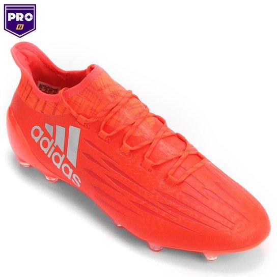 Chuteira Campo Adidas X 16 1 FG Masculina - Vermelho+Prata 26d05c8a0d23b