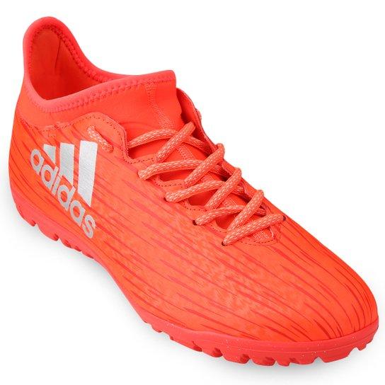 Chuteira Society Adidas X 16 3 TF Masculina - Laranja Escuro 815d2c8e346df