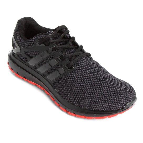 21ec5d8229 Tênis Adidas Energy Cloud Masculino - Preto e Vermelho - Compre ...