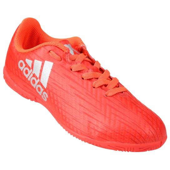 ddd80c5df5094 Chuteira Futsal Juvenil Adidas X 16 4 IN - Vermelho Claro