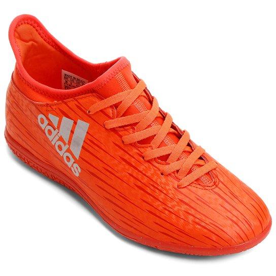 Chuteira Adidas X 16.3 IN Futsal Infantil - Vermelho Claro 5a40733492188