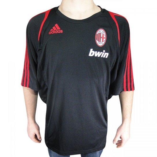 8f71324119 Camisa Adidas Milan Treino - Preto+Vermelho