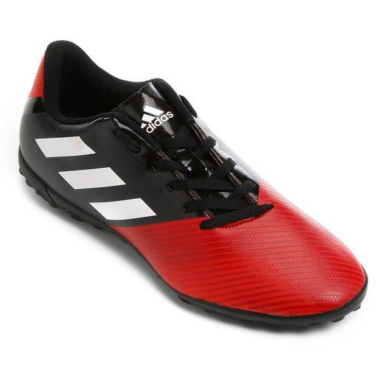 6fe4447a24 Chuteira Society Adidas Artilheira 17 TF - Preto e Vermelho - Compre ...