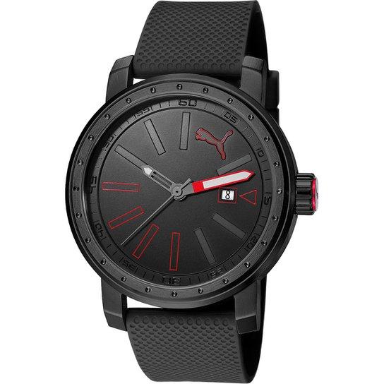 920872b9ab2 Relógio Puma Analógico Somebody 96257GPPSPU1 Masculino - Preto+Vermelho