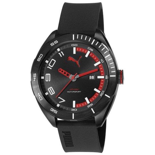 ca8e372d8f7 Relógio Puma Analógico Octane II 96256G0PSNU2 Masculino - Preto+Vermelho