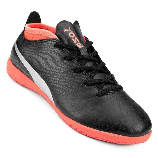 2053fed15f Chuteira Futsal Infantil Puma One 18.4 IT BDP - Preto e Vermelho ...