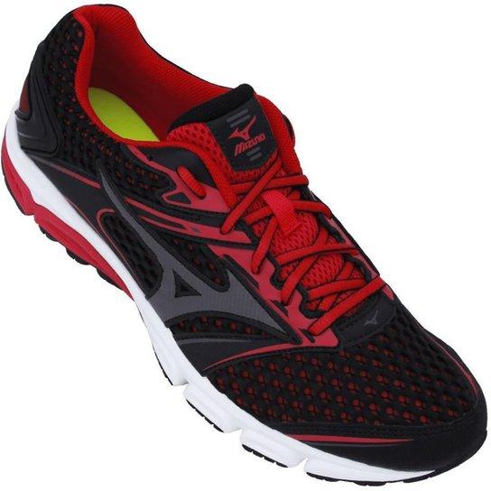 Tênis Mizuno Iron P Masculino - Preto e Vermelho - Compre Agora ... edbd53e212723
