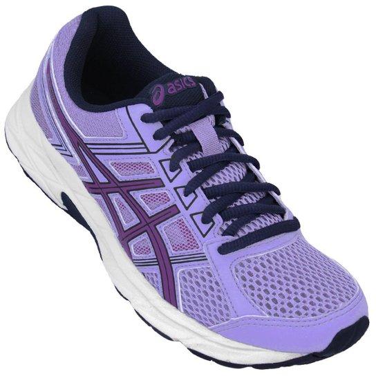 Tênis Asics Gel Contend 4 A Feminino - Violeta e Branco - Compre ... 5657185b2d61f