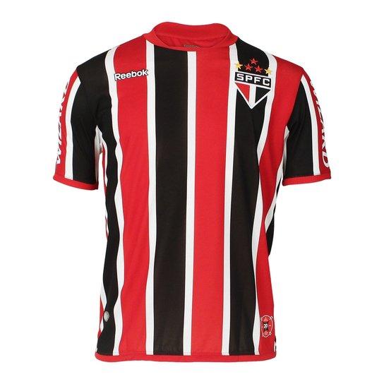 6186d85fff Camisa Reebok Spfc Of.2 Nº10 12 Sp26001v - Preto+Vermelho
