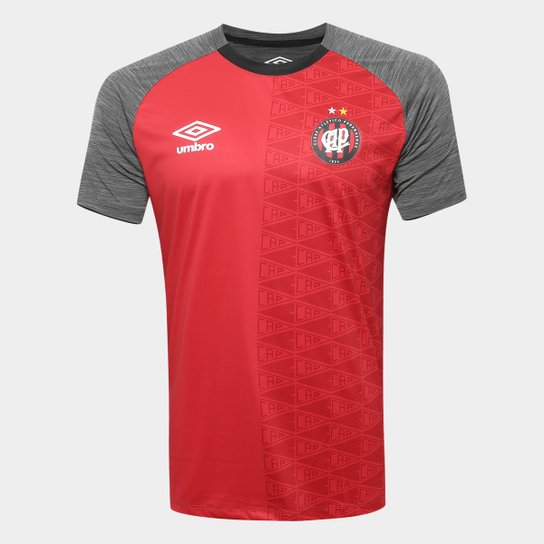 61ccec10fc Camisa Athletico-PR Aquecimento 2018 Umbro Masculina - Preto+Vermelho