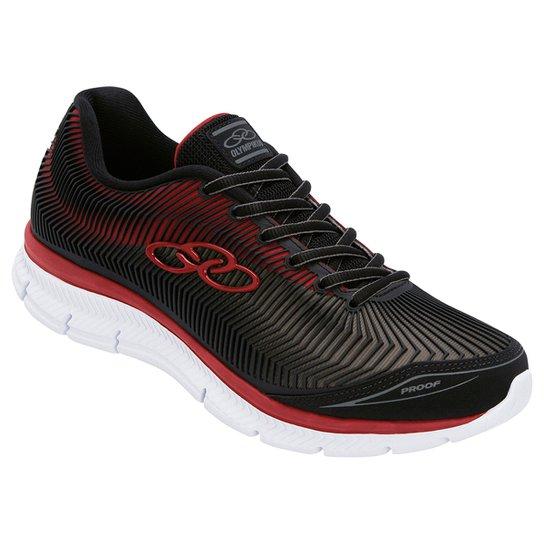 3af2fa470d7 Tênis Olympikus Proof Masculino - Preto e Vermelho - Compre Agora ...