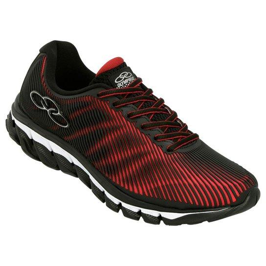 a10e3218b7 Tênis Olympikus Perfect Masculino - Preto e Vermelho - Compre Agora ...