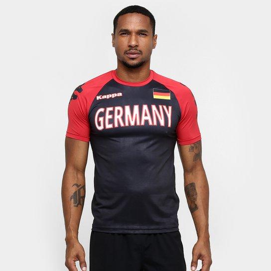 Camiseta Alemanha Kappa Kombat Masculina - Preto+Vermelho 262c889872132