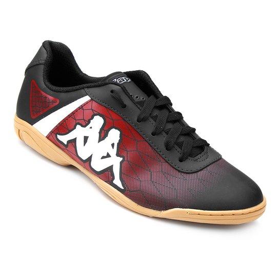 Chuteira Futsal Kappa Torpedo - Preto e Vermelho - Compre Agora ... 87b84310ba344