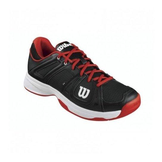 a218630531 Tênis Team Masculino Preto Vermelho Branco 44 - Wilson - Preto+Vermelho