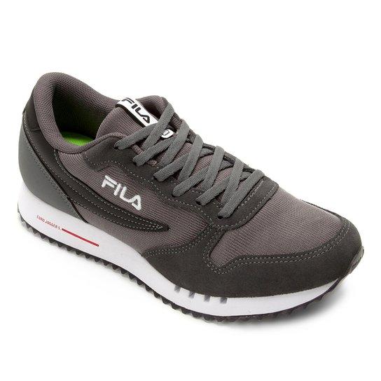 55823d25045 Tenis Fila Euro Jogger Sport Masculino - Preto e Vermelho - Compre ...