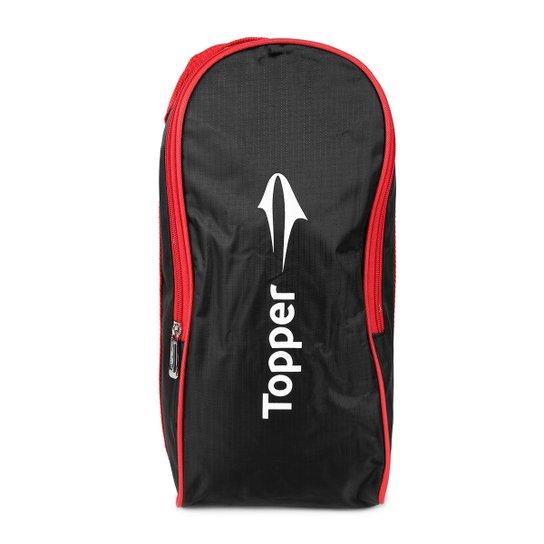 Porta-Chuteira Topper Boot - Preto+Vermelho f109d11fb54a7