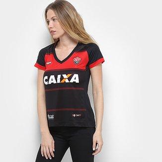 5d13a0c0f0639 Camisa Vitória I 2018 s n° Torcedor Topper Feminina