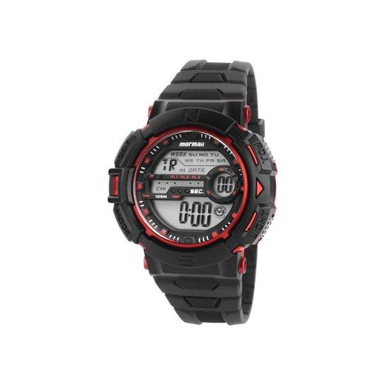 af329da5bb3 Relógio Mormaii Masculino - MO1069AP 8R - Preto+Vermelho