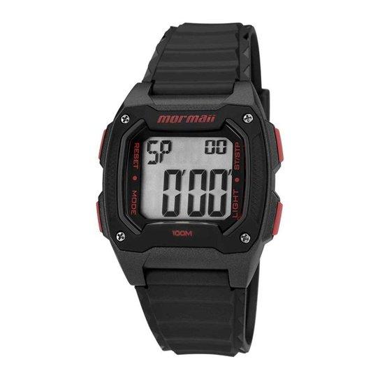 345f727ed62 Relógio Mormaii Masculino - MO11516A 8R - Preto+Vermelho