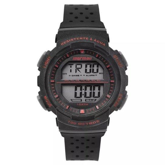 Relógio Mormaii Digital Fun MO36508R Preto Branco - Preto e Vermelho ... 47ae788919