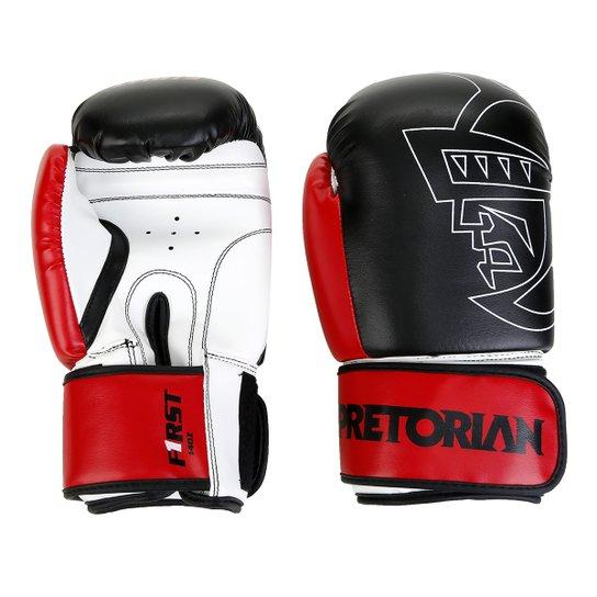 55a2bd7d4 Luva de Boxe e Muay Thai Pretorian First 14 oz - Preto e Vermelho ...
