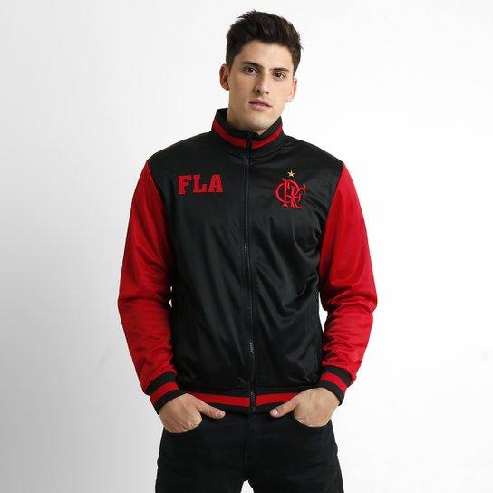 65044516bc817 Jaqueta Flamengo Tibet Masculina - Preto+Vermelho