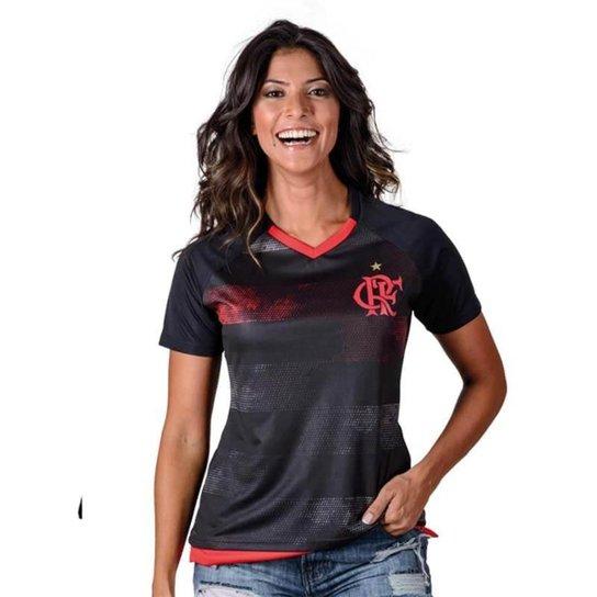 2b06fd6e83 Camiseta Flamengo Rally Feminina - Preto+Vermelho