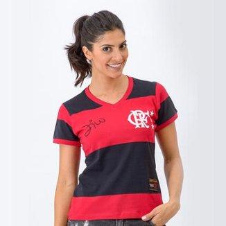 Camisa Flamengo Feminina Retrô Baby Look 1981 Zico Libertadores Feminina 3c725e37a3979