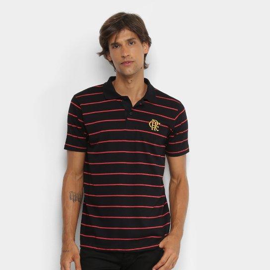 de36a83f29524 Camisa Polo Flamengo ADT Masculina - Preto e Vermelho - Compre Agora ...