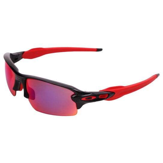 936688c08d515 Óculos Oakley Flak 2.0 - Polarizada - Preto+Vermelho