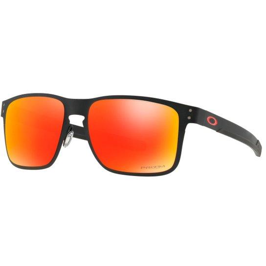 723bed0c944ef Óculos Oakley Holbrook Metal - Preto+Vermelho