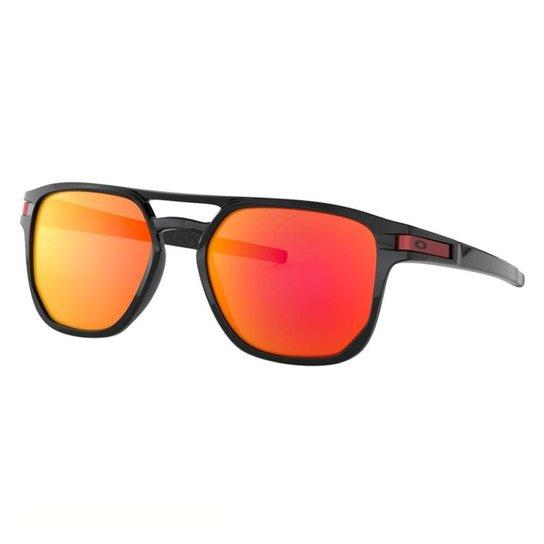 b49231bad Óculos Oakley Latch Beta Polarizado - Preto e Vermelho | Netshoes