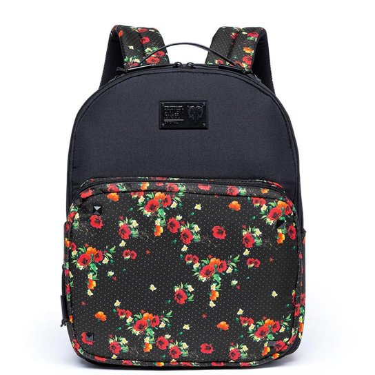 c4d13ddfa Mochila Cavalera Flower Dots - Preto e Vermelho | Netshoes