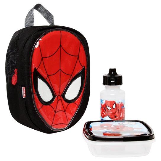 3398ed080 Lancheira Sestini Spider Man - Preto+Vermelho