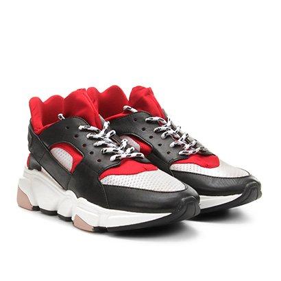 Tênis Couro Carrano Chunky Sneaker Feminino