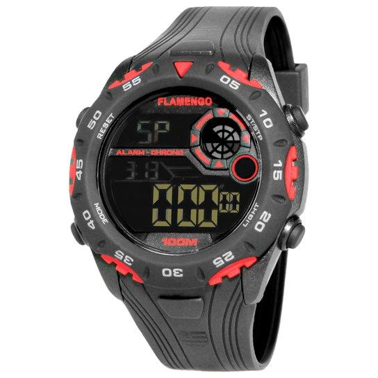 dff0fb7078baa Relógio Flamengo Technos Digital I - Preto+Vermelho