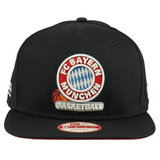 Boné New Era 950 Team Bayern Munique - Preto e Vermelho - Compre ... 214deb26bc2