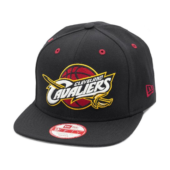cd314b45db Boné New Era Snapback Original Fit Cleveland Cavaliers - NBA - Preto +Vermelho