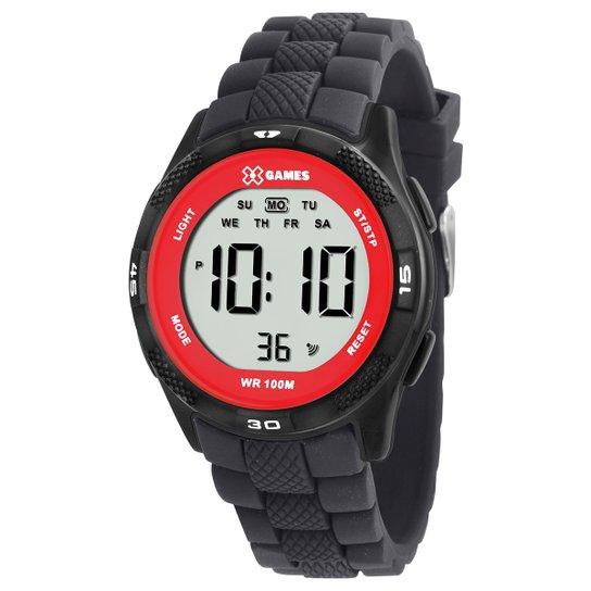 f1663df6e03 Relógio Digital X-Games XMPPD370 - Preto+Vermelho
