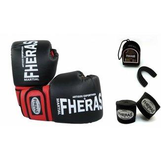 86991e2f7 Kit Fheras Infantil Luva de Boxe   Muay Thai Orion 08 oz + Bandagem + Bucal