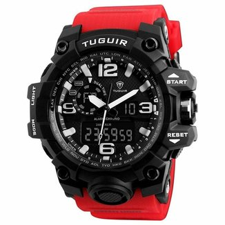 08166333f7 Relógio Masculino Tuguir Anadigi TG1155 P