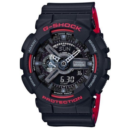 10866718577 Relógio G-Shock Analógico Digital GA-110HR - Preto+Vermelho