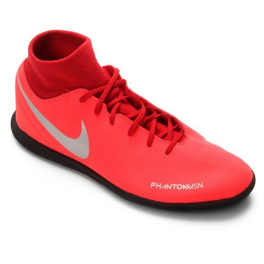 010d87747c Chuteira Futsal Nike Phantom Vision Club DF IC - Vermelho e Prata ...
