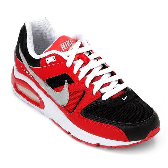 69b7c0d7bd0 Tênis Nike Air Max Command Masculino - Preto e Vermelho - Compre ...