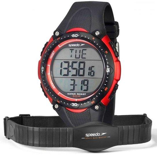 f7fbd3033bb Relógio Speedo Monitor Cardíaco 80565G0EPNP1 - Preto+Vermelho