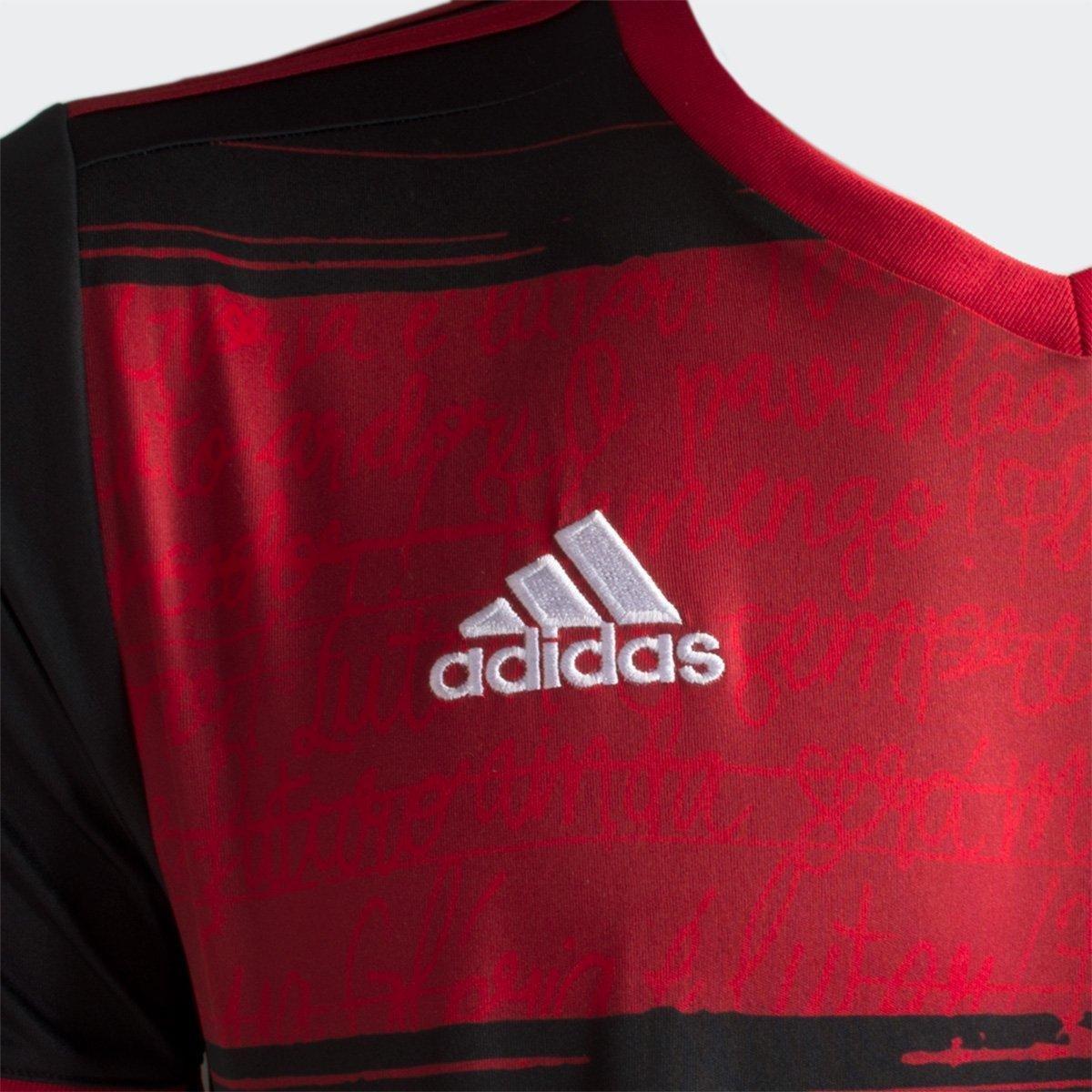 Camisa Flamengo I 20/21 s/n° Torcedor Adidas Masculina - Tam: G - 2