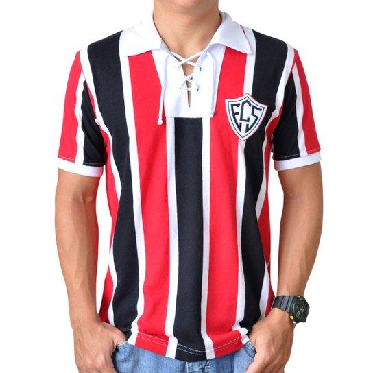 452a261c1fb Camisa Retrô Mania Aracruz ES 1954 - Preto+Vermelho