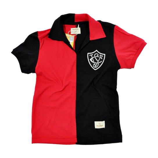 bd3d7bc5274 Camisa Retrô Mania Juvenil EC Vitória 1908 - Preto+Vermelho