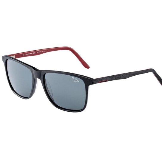 7ee7224ad0 Óculos De Sol Masculino Jaguar - Preto+Vermelho